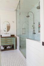 Bathroom With Marbelled Tileda...