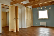 Empty Room With Wooden Door