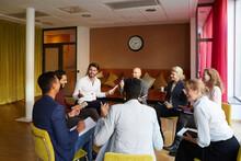 Smiling Entrepreneurs Discussi...