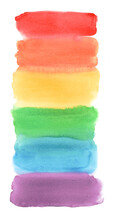 LGBT Watercolor Flag Hand-draw...