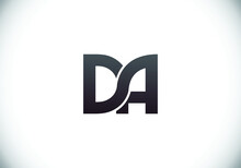 Initial Monogram Letter DA Logo Design Vector Template. DA Letter Logo Design