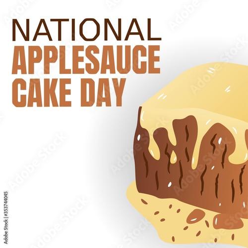 National Applesauce Cake Day Vector Illustration Canvas Print