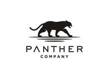 Jaguar Puma Lion Panther Silhouette Logo Design