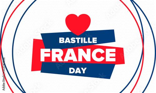 Fototapeta Bastille Day in France