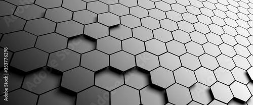 Obraz na plátně pattern hexagon background abstract