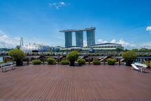 Singapore Marina Area Without People