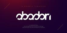Abstract Sport Modern Alphabet...