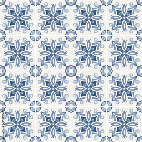 Traditional ornate portuguese decorative tiles azulejos.