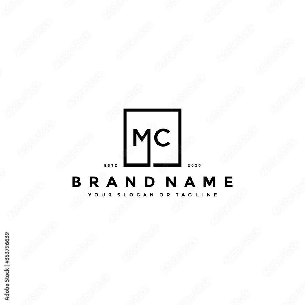 Fototapeta letter MC logo design vector
