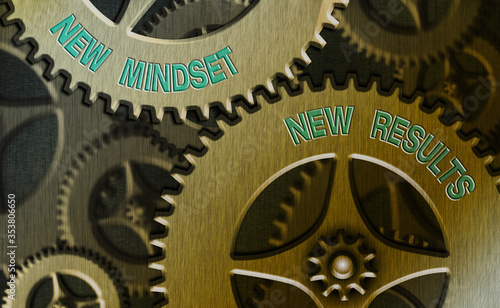 Photo Conceptual hand writing showing New Mindset New Results