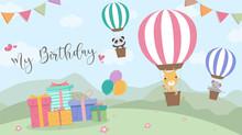 Happy Birthday Cartoon Card Wi...