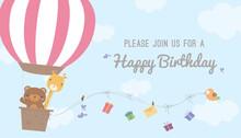 Hot Air Balloon Birthday Card ...