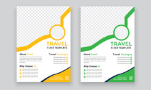 Travel Flyer Template Design W...