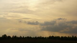 Niebo przy zachodzie słońca.