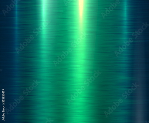 Photo Metal green texture background, brushed metallic texture plate.