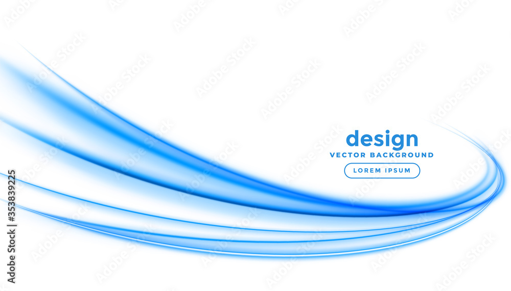 Fototapeta abstract blue line streak wave background design
