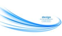 Abstract Blue Line Streak Wave...