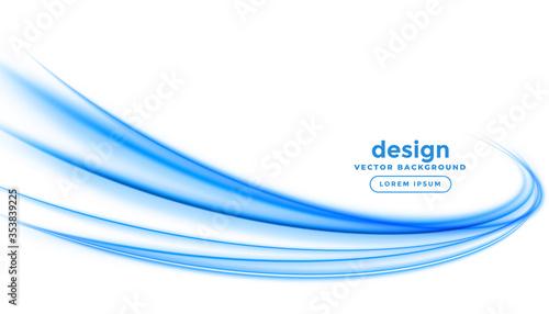 Fototapeta abstract blue line streak wave background design obraz