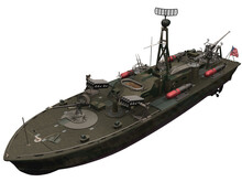 3d Rendering Of A WW2 PT BOat