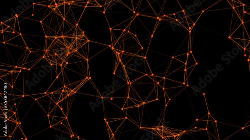 Photo Abstract Plexus  Geometrical Shapes