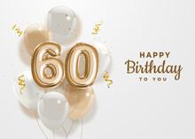 Happy 60th Birthday Gold Foil ...
