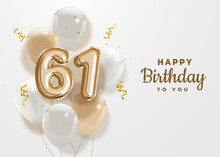 Happy 61th Birthday Gold Foil ...