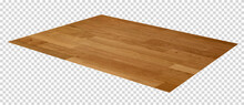 Perspective View Of Parquet Or Hardwood Floor Isolated On White Background. Wood Background Or Wooden Texture.