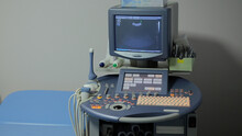 Interior Of Hospital Room With Ultrasound Machine