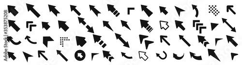 Fotografia Arrow icon. Mega set of vector arrows