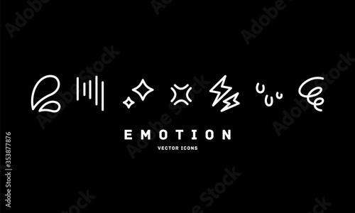 Obraz na plátně [Emotion] vector icons