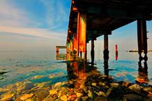 Sea Pier Pillar, Nature, No Pe...