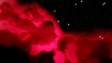 Red-violet Nebula In Outer Spa...