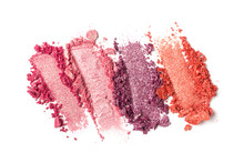 Close-up Of Make-up Swatches. ...