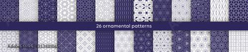 Fotografie, Obraz Set  oriental patterns