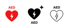 AED Vector Icon. Emergency Def...