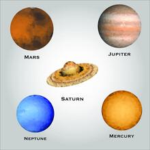 Solar System Model Illustratio...