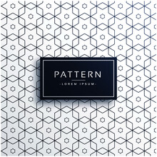 Hexagonal Geometric Line Patte...