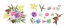 Vector Design Elements Flowers...