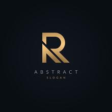 Letter R Luxurious Logo Design...