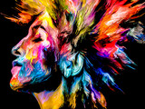 Abstract Portrait of Young Lady - 353896682