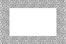 Black And White Frame. Squared Decorative Border With Animal Ornament. Cow Skin. Copy Space. Fashion Board. Template Design For Card, Poster, Banner. Vector Illustration.