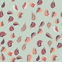 Eco Print From Autumn Leaves. ...
