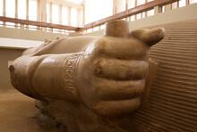 Massive Limestone Statue Of Ramses II At Mmphis Museum