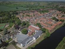 Drone Photo Of Yarm, North Yorkshire
