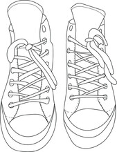 Fashion Sneakers Isolated On W...