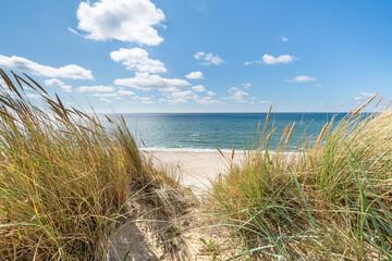 Panel Szklany Eko Dunes beach at the North Sea