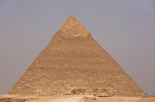 The Massive Pyramid Of Khafre At Giza Complex