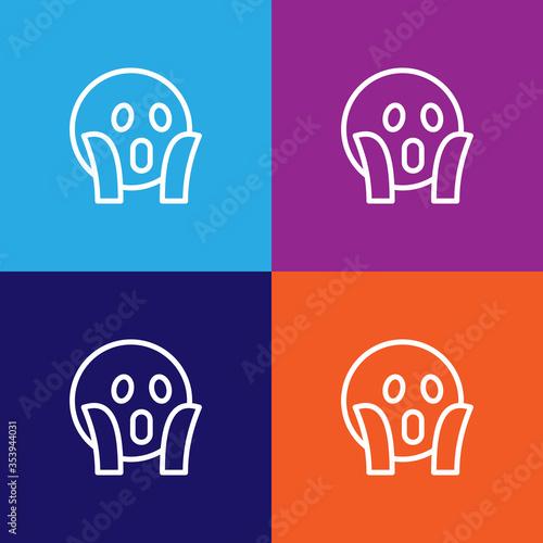 Photo Shocked emoji outline icon