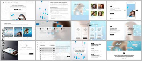 Fototapeta Presentation design vector templates, multipurpose template for presentation slide, flyer, brochure cover design, infographic report