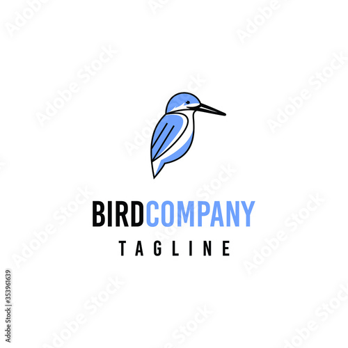 Foto Kingfisher bird logo design